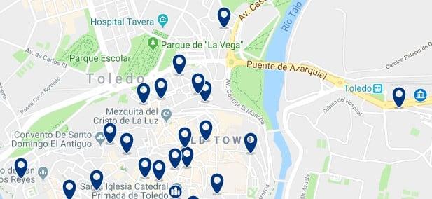 Toledo -Estación de Toledo - Haz clic para ver todos los hoteles en un mapa