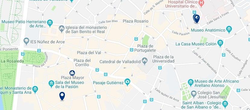 Valladolid - Centro Histórico - Haz clic para ver todos los hoteles en un mapa