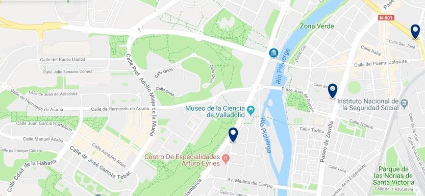 Valladolid - Cerca del Museo de la Ciencia - Haz clic para ver todos los hoteles en un mapa