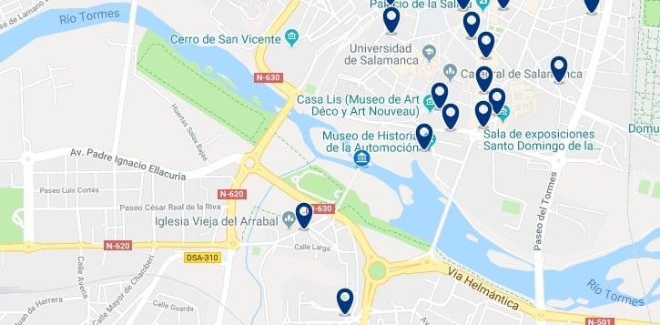 Alojamiento en el Arrabal de Salamanca - Haz clic para ver todo el alojamiento disponible en esta zona
