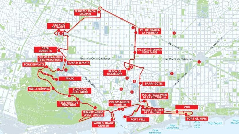 Ruta roja - Bus turístico de Barcelona