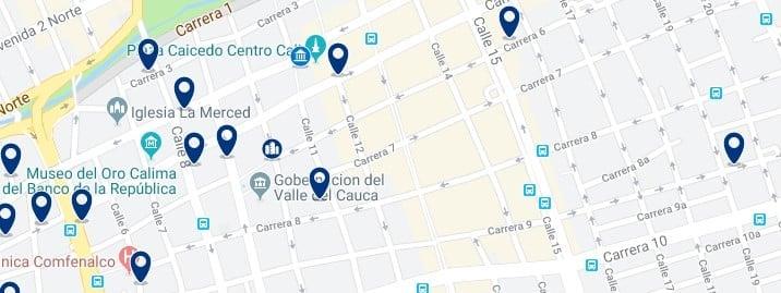 Cali - Centro - Clica aquí para ver todos los hoteles en un mapa