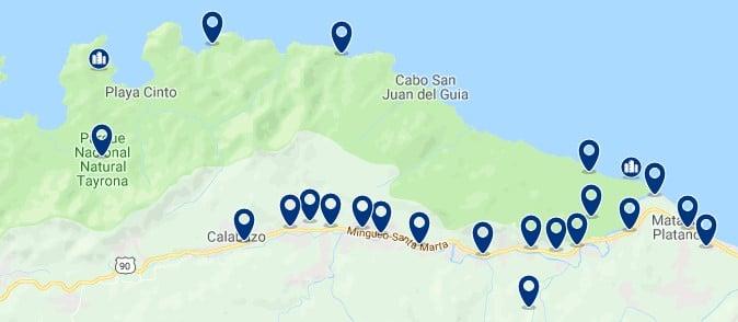 Santa Marta - Parque Nacional Natural Tayrona - Haz clic para ver todos los hoteles en un mapa