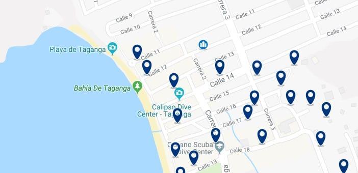 Santa Marta - Taganga - Haz clic para ver todos los hoteles en un mapa