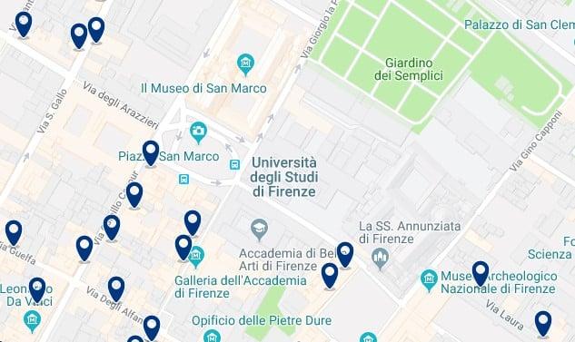 Florencia - San Marco - Haz clic para ver todos los hoteles en un mapa