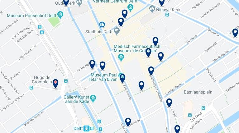 La Haya - Delft - Haz clic para ver todos los hoteles en un mapa