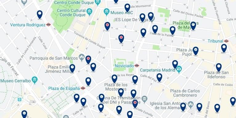 Madrid - Malasaña - Haz clic para ver todos los hoteles en un mapa