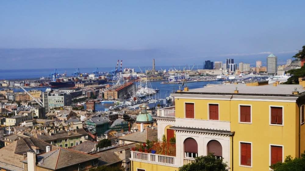 Vistas del puerto desde Castelletto - Actividades en Génova