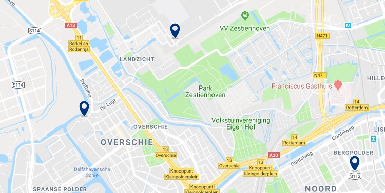 Rotterdam - Overschie & Aeropuerto de Rotterdam - Haz clic para ver todos los hoteles en un mapa