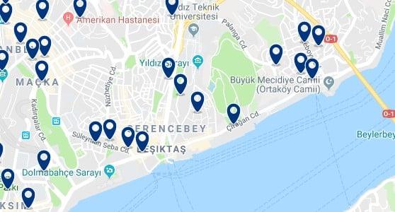 Estambul - Besiktas - Haz clic para ver todos los hoteles en un mapa