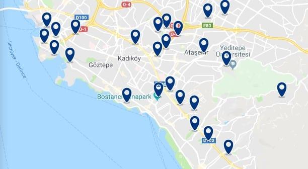 Estambul - Orilla Asiática - Haz clic para ver todos los hoteles en un mapa