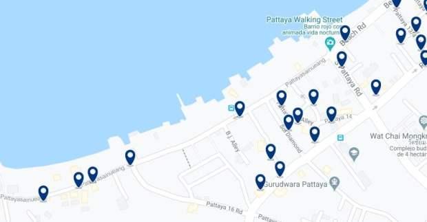 Pattaya - Walking Street - Clica sobre el mapa para ver todo el alojamiento en esta zona