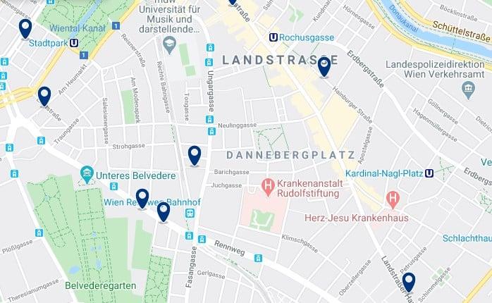 Viena - Landstraße - Clica sobre el mapa para ver todo el alojamiento en esta zona