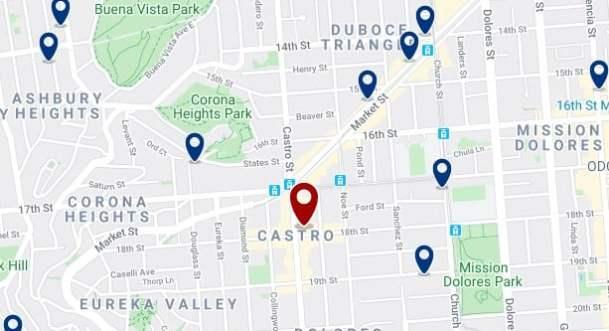San Francisco - Castro - Haz clic para ver todos los hoteles en un mapa