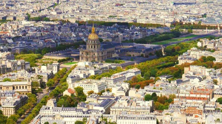 Vistas del Hôtel des Invalides y el centro de París desde la Tour Montparnasse