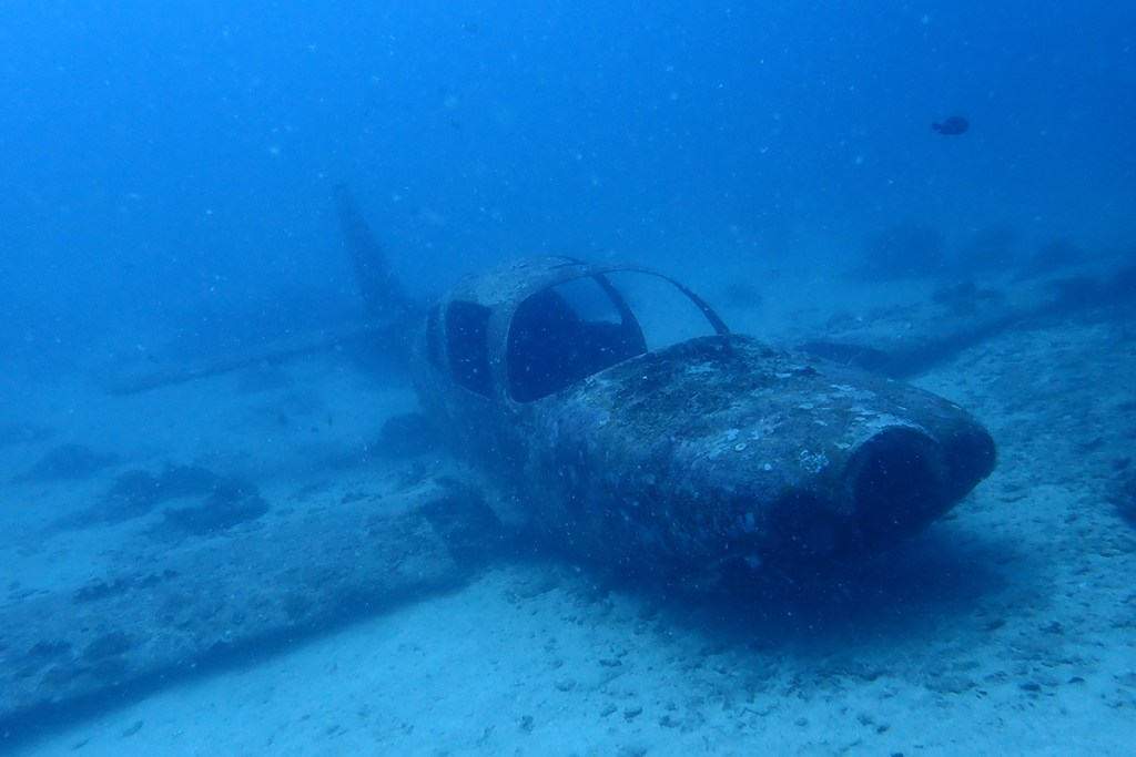Plane wreck. Moalboal, Philippines
