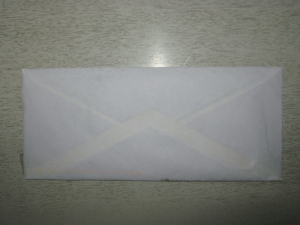 An envelope. Inside are goodies!