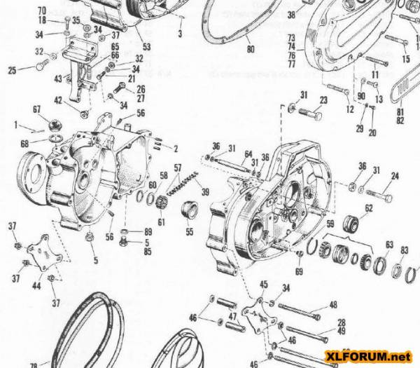 Ironhead Motor Diagram, Ironhead, Free Engine Image For