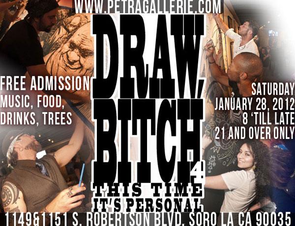 draw bitch art event flier