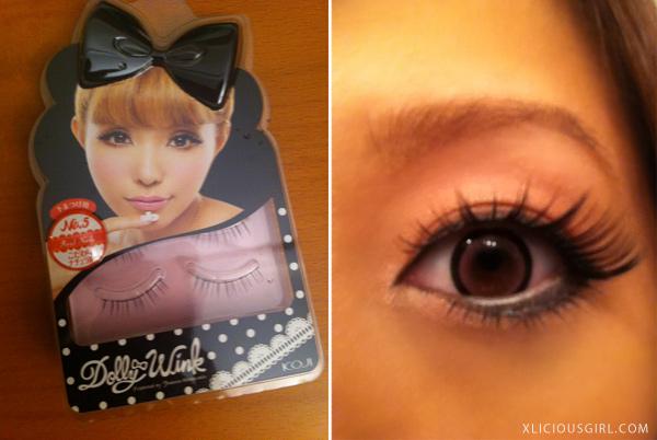dolly wink no.5 real nude eyelash review