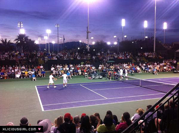 mens double tennis match at bnp paribas open