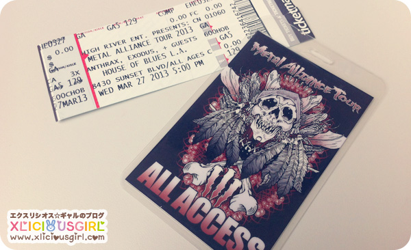 metal alliance tour all access pass and ticket