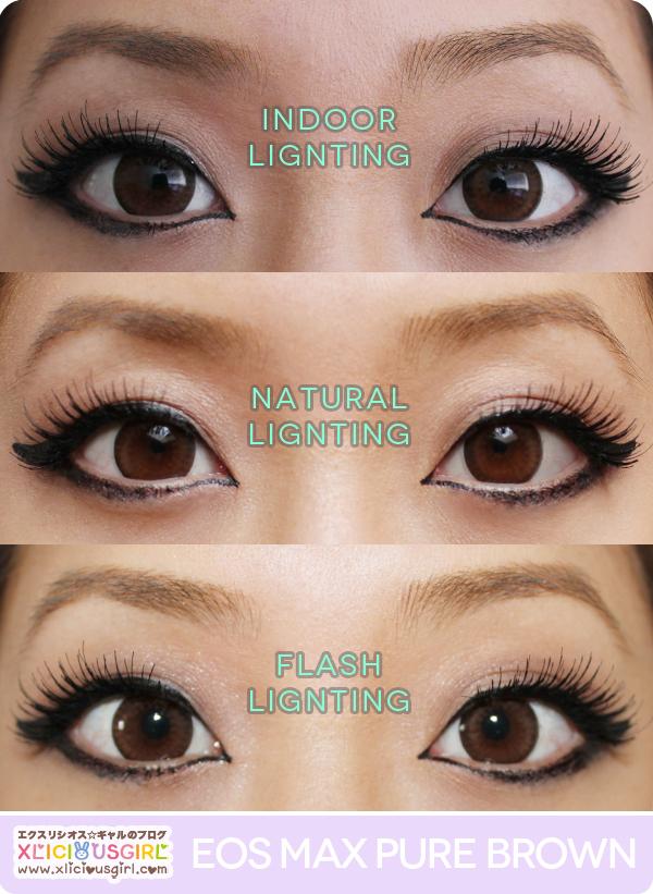 eos max pure brown circle lens review gyaru