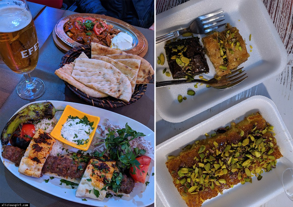 various foods from Istanbul