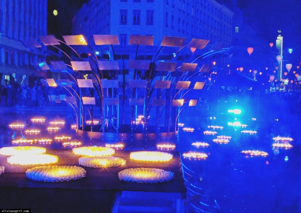 an array of lights