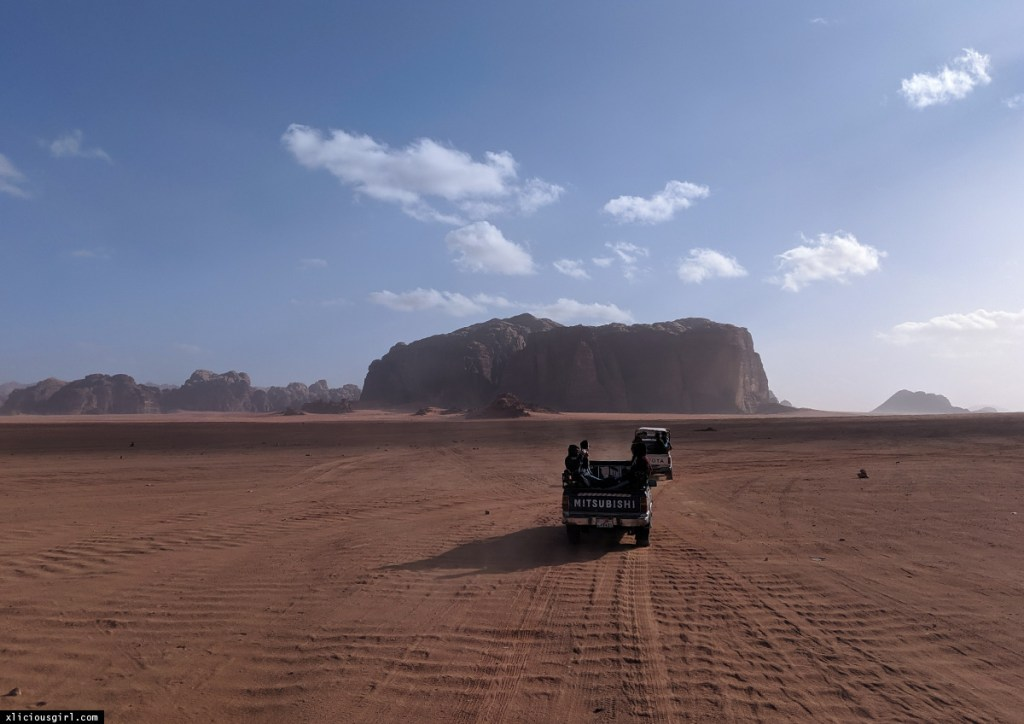 traveling to Wadi Rum