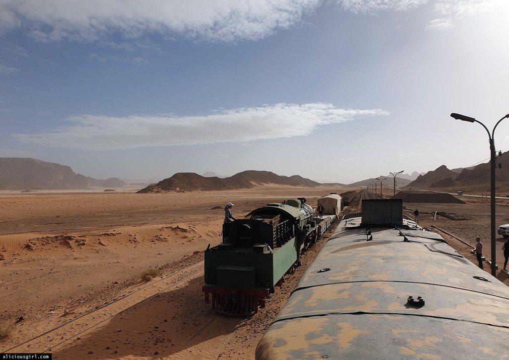 trains in a desert