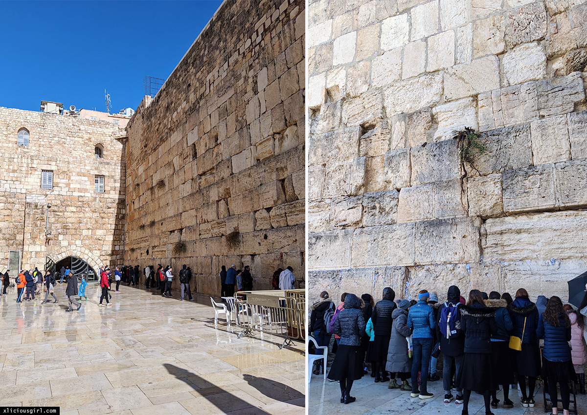 Western Wall men and womens side