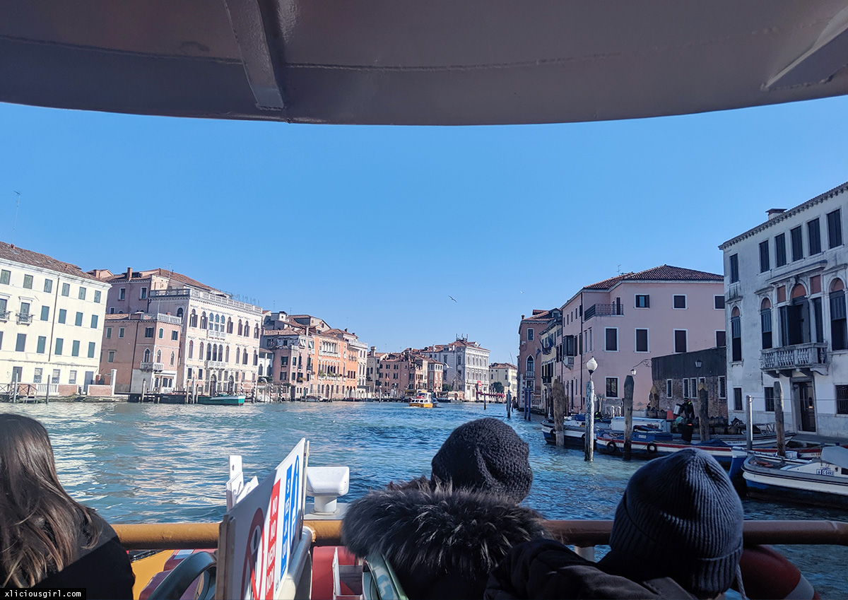ferry on venice canal