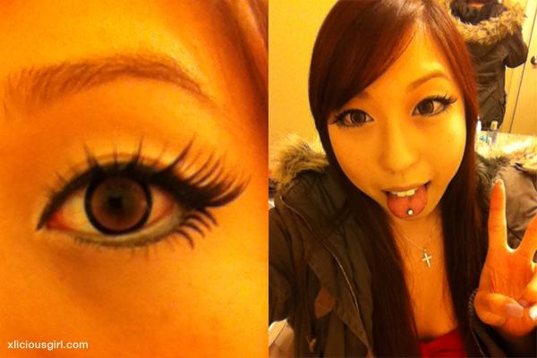 gyaru eye make up for clubbing