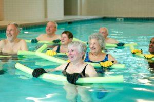 Aljoya-Mercer-Island-senior-living-residents-water-aerobics-class-Era-Living