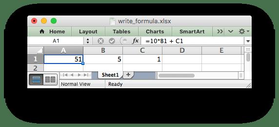 Working with Formulas — XlsxWriter Documentation