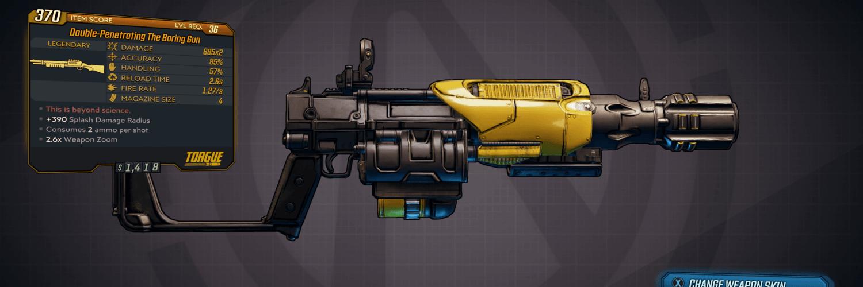 Boring Gun Legendary Weapon