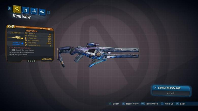 Storm Legendary Weapon