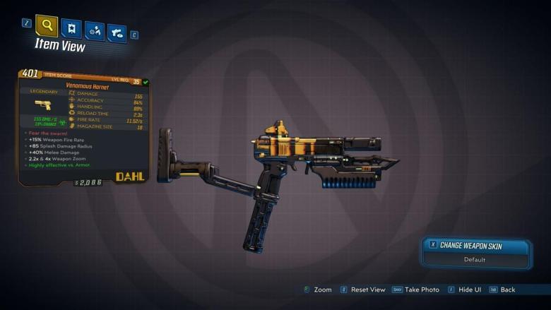 Hornet Legendary Weapon