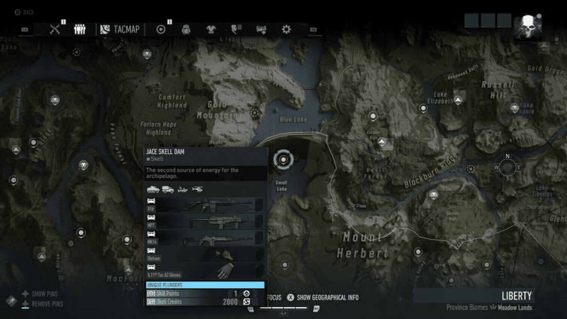 Ghost Recon Breakpoint All 70 Skill Point Locations Liberty Skill Point 1