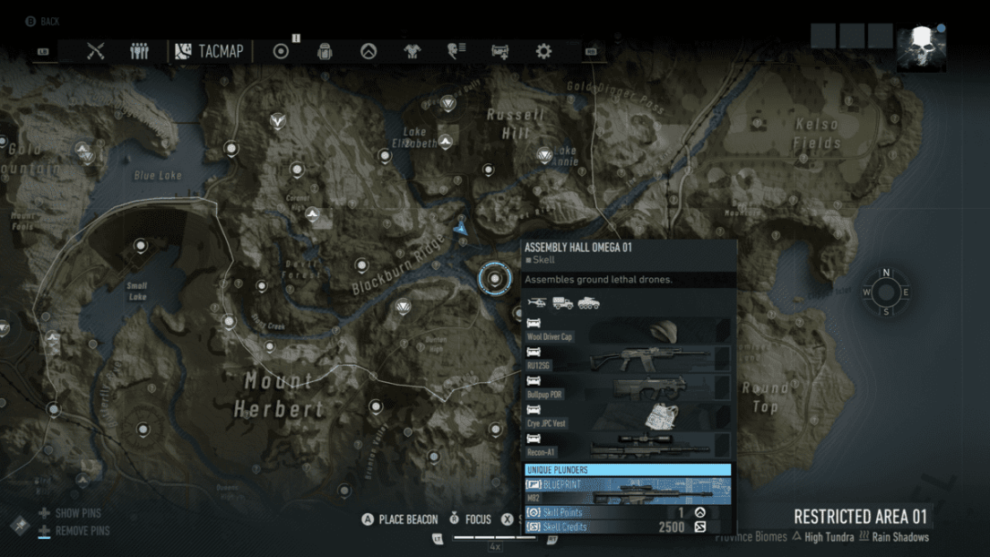 Ghost Recon Breakpoint All 70 Skill Point Locations My Great Capture Screenshot 2019 10 04 13 35 20