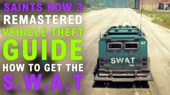 Saints Row The Third Remastered How To Get SWAT Van