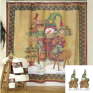 Country Christmas Shower Curtain  XmasPin