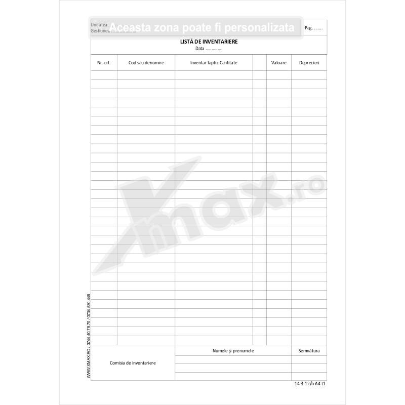 Lista de inventariere 14-3-12/b