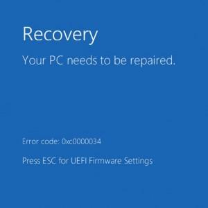 Как исправить ошибку 0xc0000034 в Windows 10