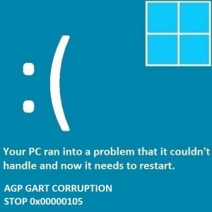Как исправить ошибку AGP GART CORRUPTION