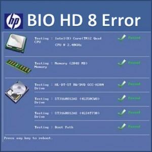 Как исправить ошибку BIOHD 8 HP Windows 7