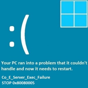 Как исправить ошибку Co_E_Server_Exec_Failure