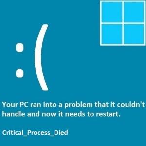 Как исправить ошибку CRITICAL_PROCESS_DIED