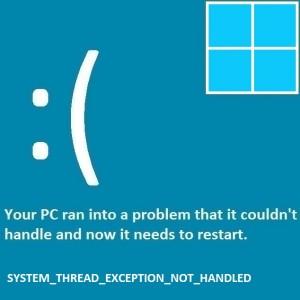 Как исправить ошибку System_Thread_Exception_Not_Handled?